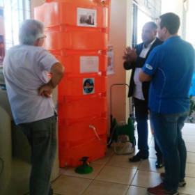Cisternas, Palestra sobre Captação e Reúso de Água em Araraquara