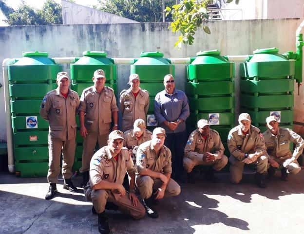 Corpo de bombeiros da Gávea e Tecnotri juntos em ação sustentável