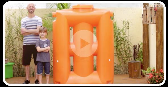 Cisterna Tecnotri - Fácil Instalação