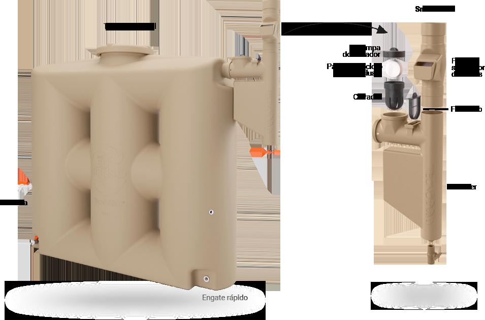 Cisterna bege filtro